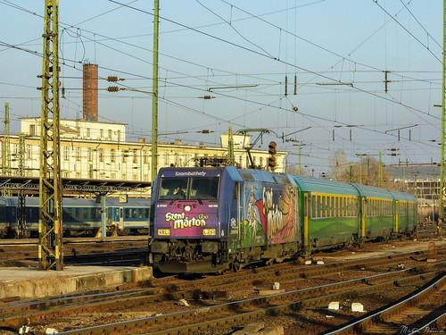 máv mávstart 480 class480 bombardier traxx locomotive werbelok train transport intercity travel trainstation sunset gysev raabercity city cityscape budapest keletipályaudvar magyarország hungary europa panasonic dmc lz20 lumix