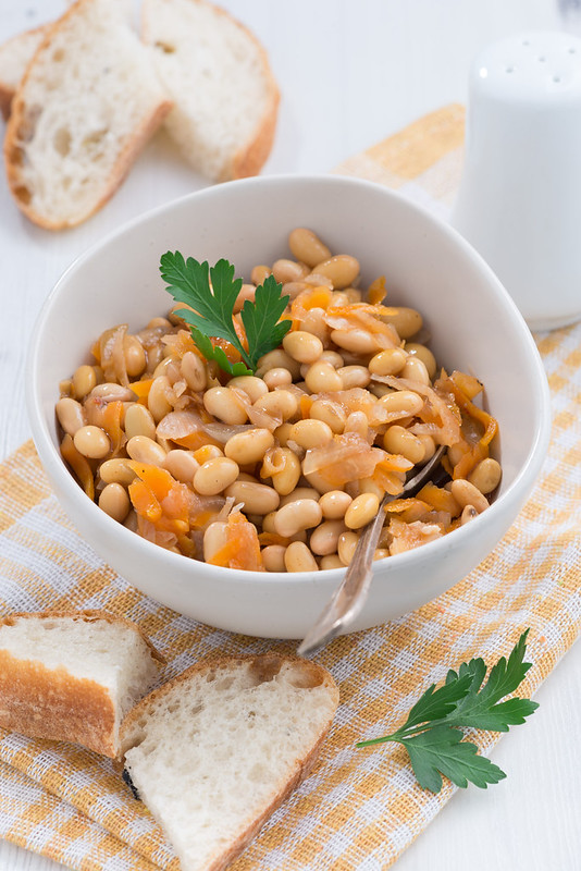 stewed soybeans with vegetables