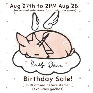 +Half-Deer+ Birthday Sale!