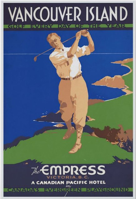 Vancouver Island - Golf Every Day of the Year - Vintage Poster