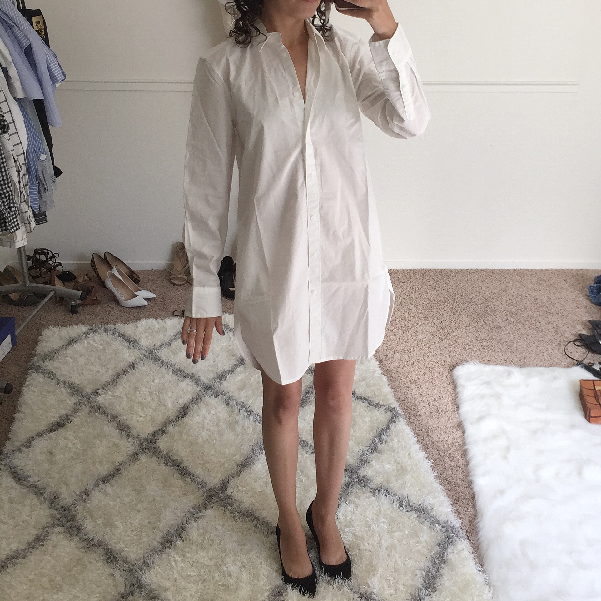 madewell tunic with pockets review white