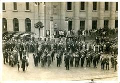 photo - bolzano - stazione ferroviaria - banda musicale - giugno 1928 - grandi gino - savona