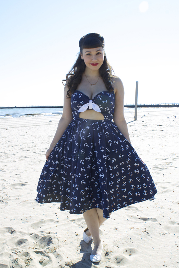 pinup girl clothing anchor dress
