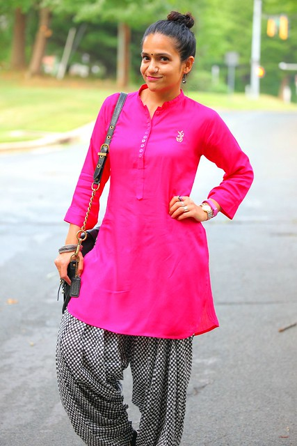 Kurta (Tunic) - From India Salwar (Pants) - From India Shoes - Kenneth Cole  Bag - Karla for Coach  Earrings - Bauble Bar Tanvii.com