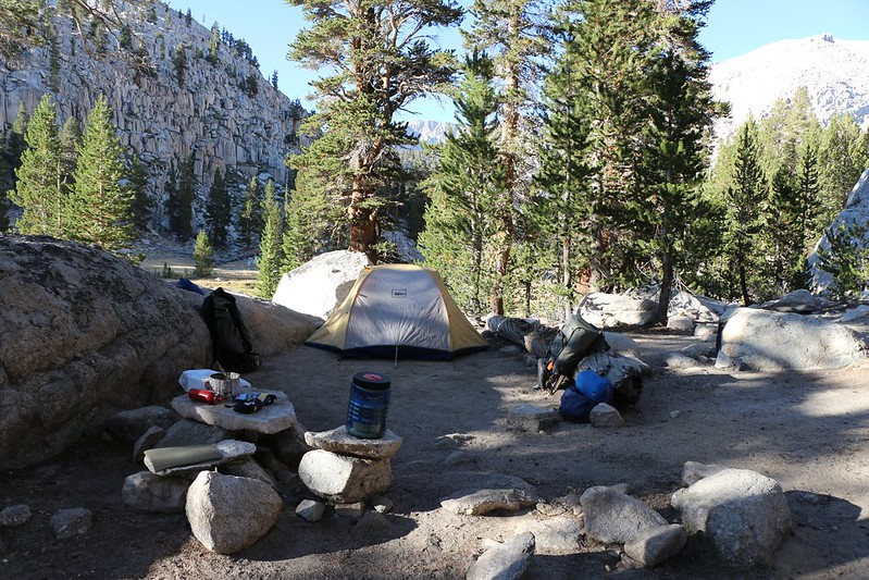 Our camp on the meadow below Soldier Lake