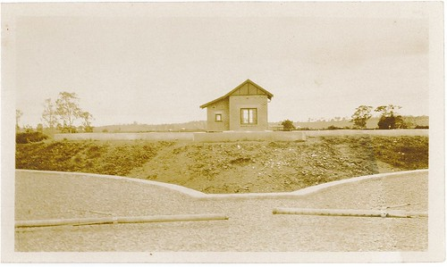 North Grafton STP - The Pump House - Taken from the top of the filter beds (25-10-1933)
