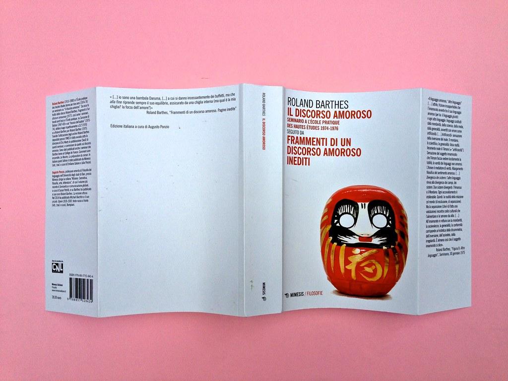Roland Barthes, Il discorso amoroso. Mimesis 2015. Totale copertina (part.), 1