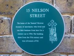 Photo of Samuel Browne green plaque