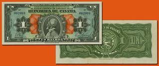 1941 Panama 1 Balboa note