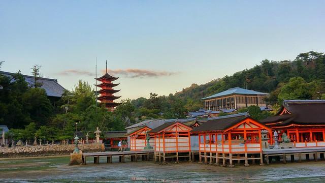 Itsukushima shrine and 5 level pagoda