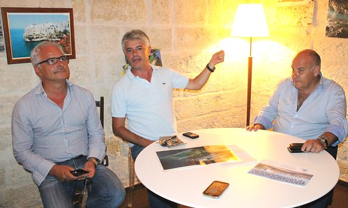 Paolo Palmieri Franco Mancini e l'assessore regionale Giannini
