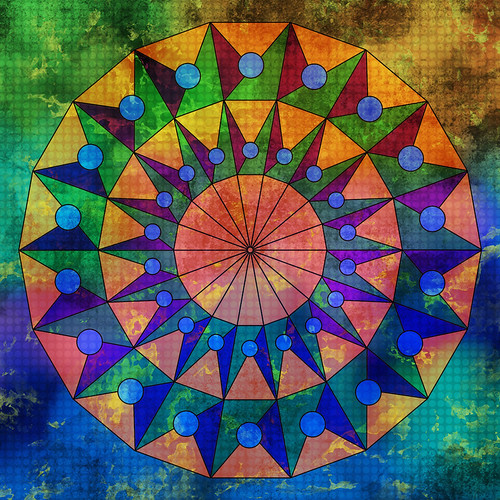 Digital collage with my hand-drawn mandala