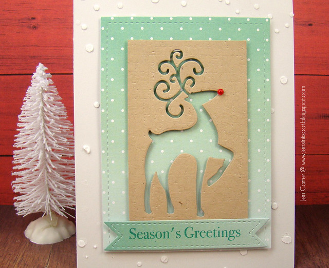 Jen Carter Fancy Deer Seasons Greetings Closeup