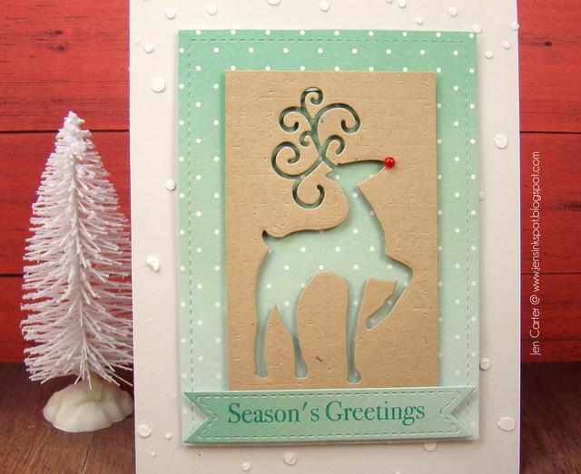Jen Carter Fancy Deer Seasons Greetings Closeup
