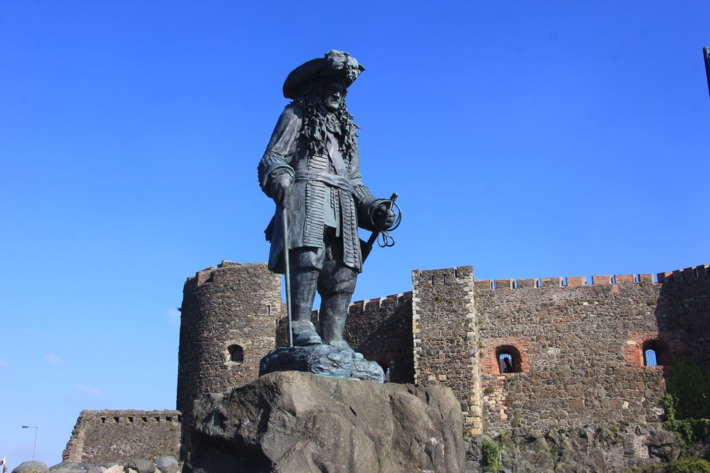 A statue of King William III at Carrickfergus Castle