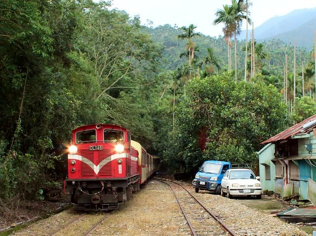 阿里山森林鐵路-木屐寮站-嘉義縣竹崎鄉-Mujiliao station, Alishan forest rail, Zhuchi, Chia-yi County, Taiwan