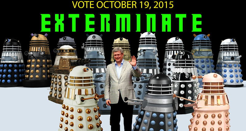Anti - Stephen-Harper-Daleks