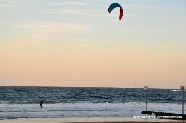 Kite Surfing at Manly Beach Sydney