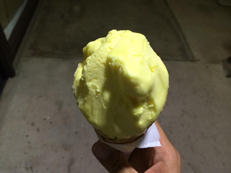 Lemon gelato from Ono Gelato.