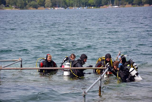 Tauchen Kulkwitzer See – Ausbildung 2015