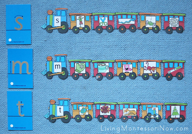 Beginning Letter Sound Train Layout