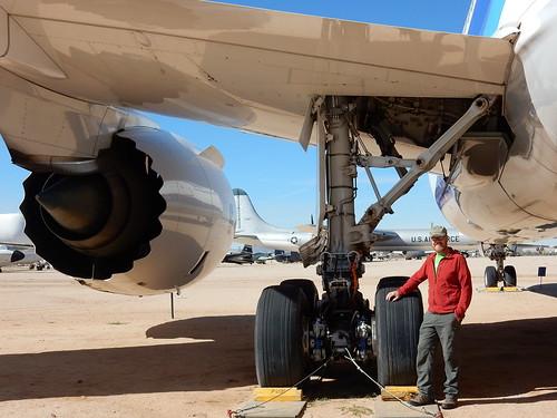 Pima Air-Space museum - Gerhard bij wielen Dreamliner