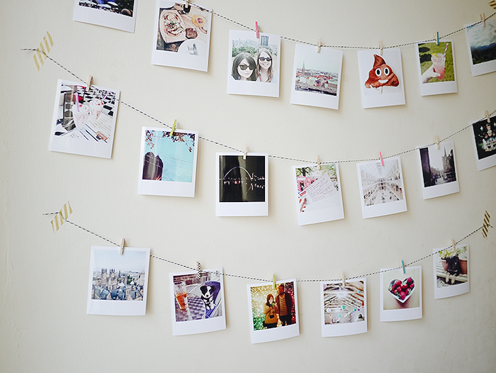 diy instagram photo garland 8
