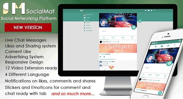 Codecanyon SocialMat v1.3 - Social Networking Platform