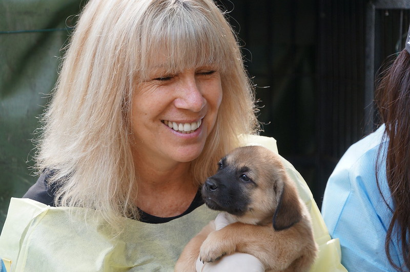 Jill and pup smiling