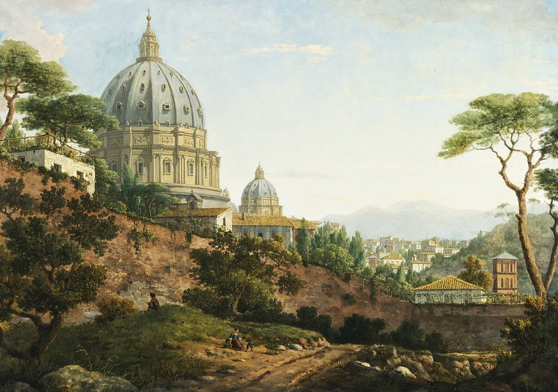 William Marlow - View View of Saint Peter, Rome (c.1783)