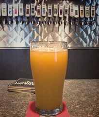 Traffic sucks today. Got off the highway for a pint @silvercitybrewery and snagged their new Tropic Haze IPA. It's quite tropical and quite hazy. Truth in naming. Very nice IPA.