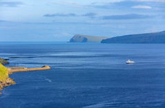 The ferry coming from Sandoy, Faroe Islands