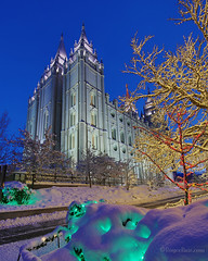 Temple Square lighting