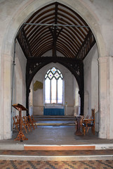 chancel with 14th Century canopy
