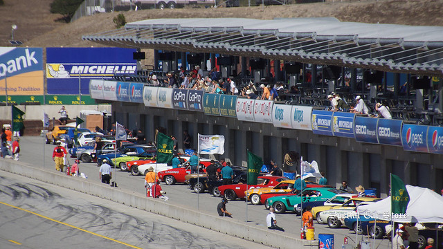In prime position at the Rolex Monterey Motorsports Reunion