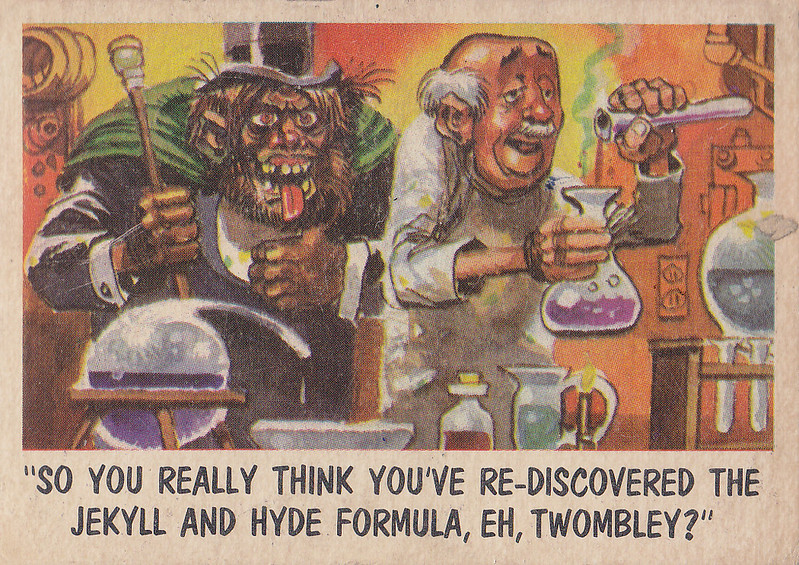 """You'll Die Laughing"" Topps trading cards 1959,  illustrated by Jack Davis (10)"