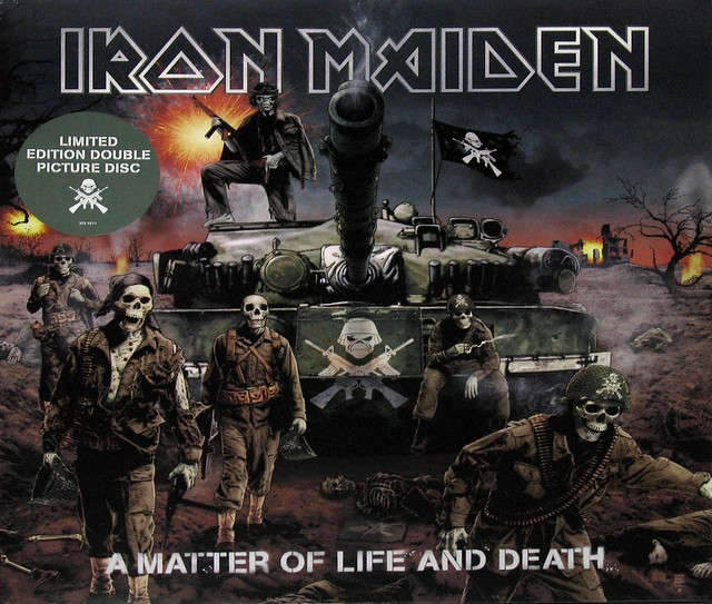 IRON MAIDEN A MATTER OF LIFE AND DEATH   2LP 2X PICTURE DISC
