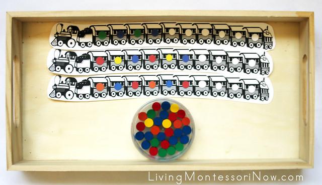 Pattern Trains Tray