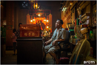 Temple guard in the heart of Hong Kong