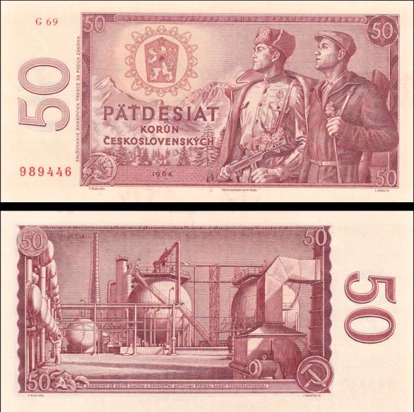 50 Kčs II. Padesát korun Československo 1964