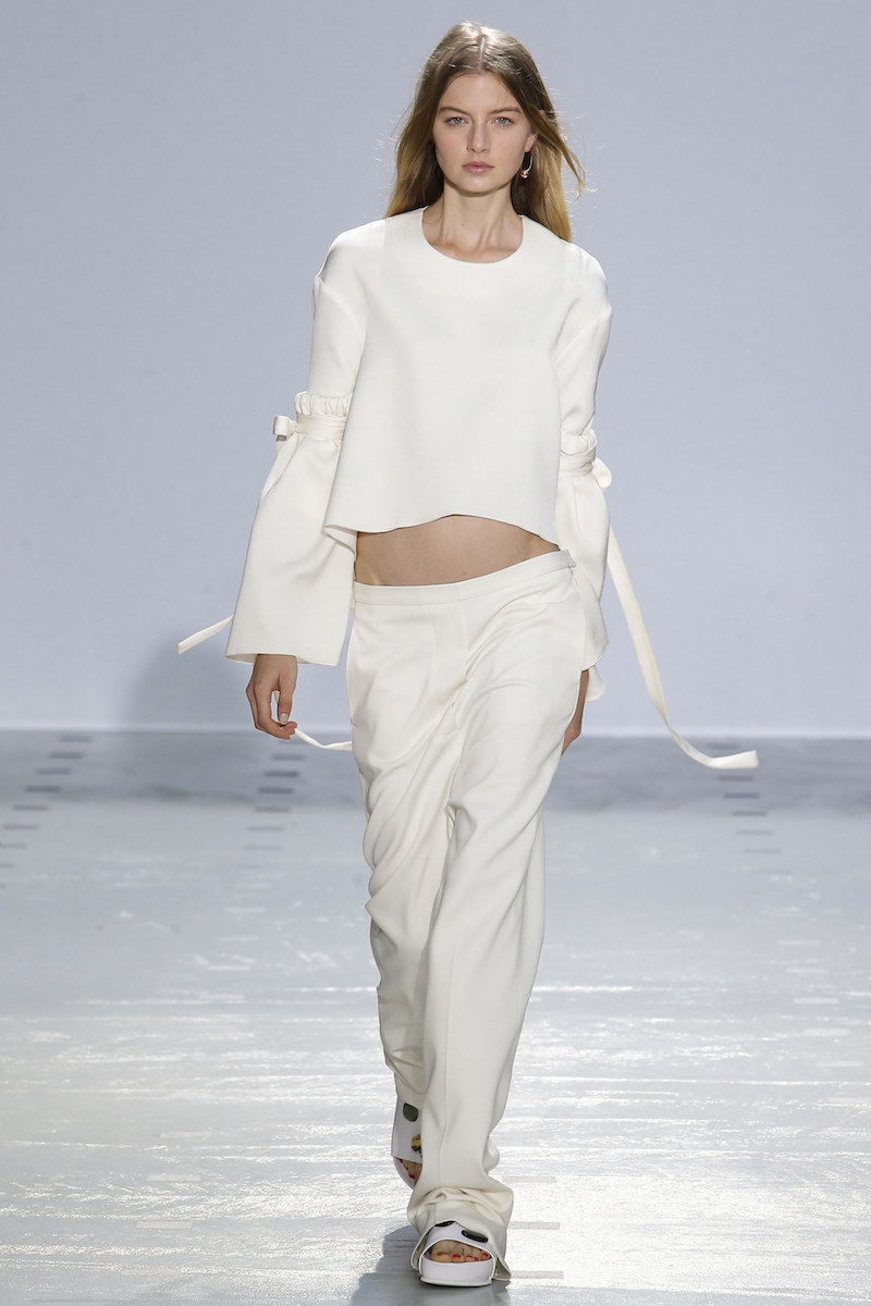 ELLERY SS16 flare tie sleeves ivory boyish dressing MODERN LEGACY