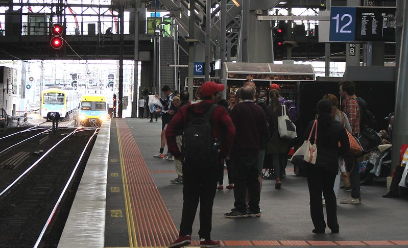 Southern Cross Station, trains arriving