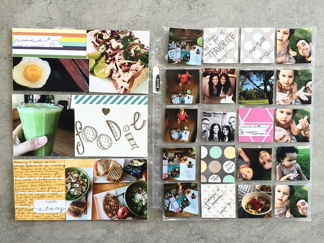 jasmine's pocket scrapbook / project life book : august