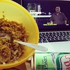 Haldiram bhel, ginger ale and a bollywood movie on bed in a cozy weather!! Saturday afternoons be like this!