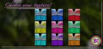 [ B! ] :WHISPERING FAE: Glitter trimmed halter dresses . 9 colo HUD