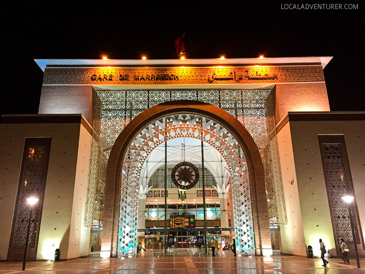 Marrakech Railway Station (21 Things to See in Morocco).