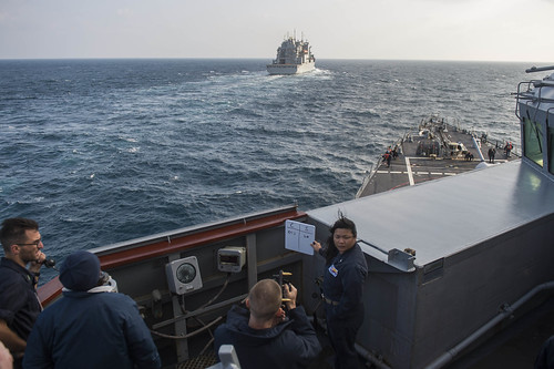 USS Fitzgerald is underway in the East China Sea.