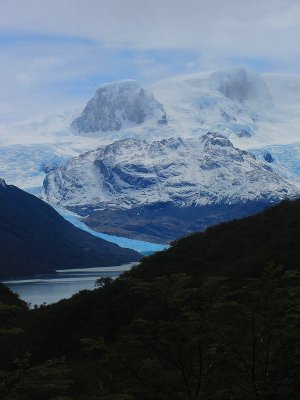 Looking into Argentina from Refugio Dickson