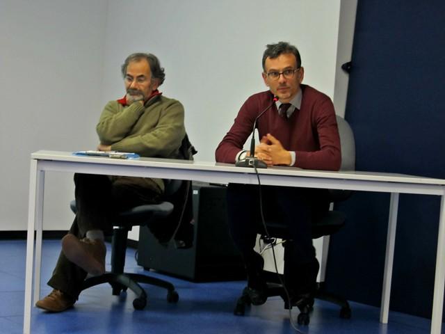 Casamassima-Il problema delle acque reflue di Casamassima-A sinistra Nicola Tedesco e Antonello Antonicelli