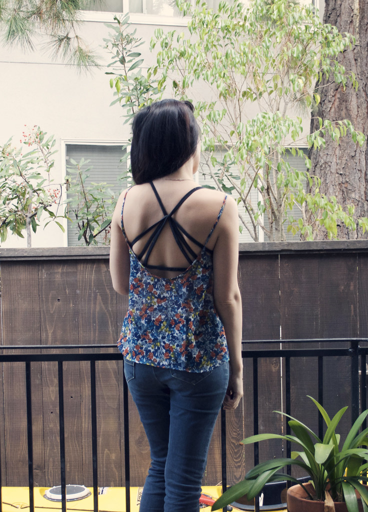 Floral drapey top